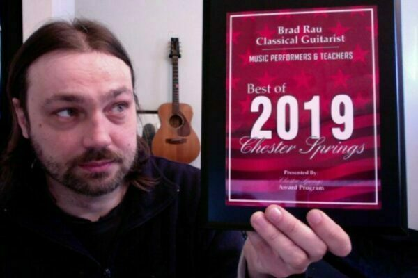 Brad Rau Classical Guitarist has been selected for the 2019 Best of Chester Springs Award in the Music Performers & Teachers category by the Chester Springs Award Program.